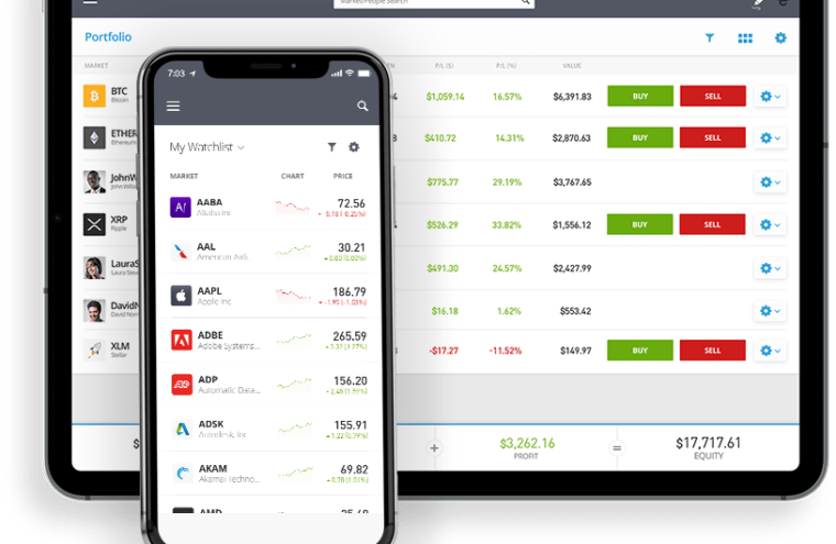 application trading etoro